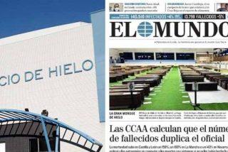 """Contundente respuesta de 'El Mundo' por la foto de la """"Gran Morgue de España"""" sacudiendo a los """"manipuladores"""" de EFE y RTVE"""