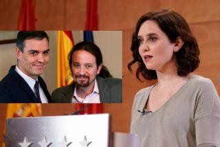 Ayuso recurre con datos contundentes ante el Supremo la negativa de Sánchez a ascender a Madrid a la fase 1