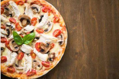 Pizza de pollo casera