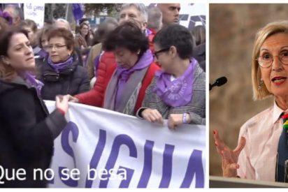 Rosa Díez provoca el temblor de piernas entre las ministras sociocomunistas por su esperpéntico vídeo del 8-M