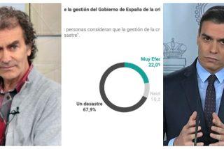 """Encuesta INEA / Los españoles consideran un """"desastre"""" sin paliativos la gestión del patoso Sánchez y un """"mentiroso"""" a su 'experto' Simón"""