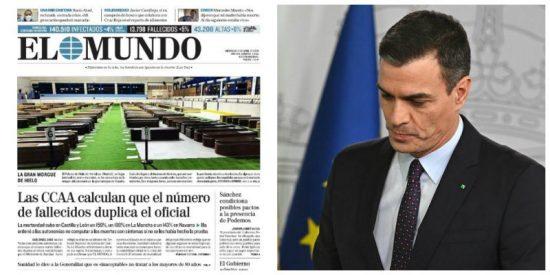 El Mundo chafa a Sánchez revelando unas espeluznantes cifras e imágenes de los muertos por coronavirus