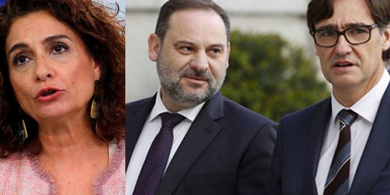 Caos en Moncloa: Ábalos e Illa mandan 'callar' a Montero por poner fecha al final del estado de alarma
