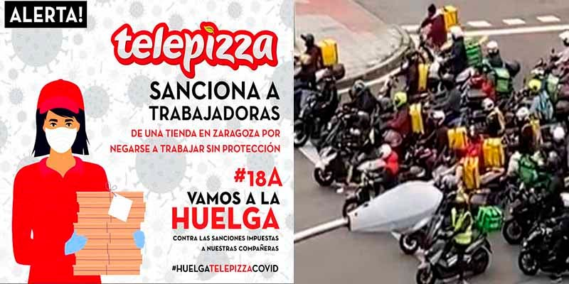 Trabajadores de Glovo y Telepizza se levantan: a unos les quitan la mitad de la paga y a otros los obligan a trabajar sin EPIs