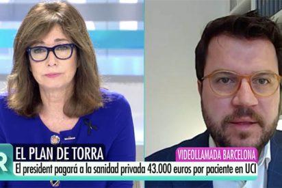 'Bofetón' de Ana Rosa al pesadísimo independentista que sigue con su procés erre que erre hasta en plena crisis del coronavirus