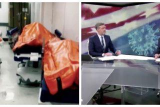Antena 3 se horroriza por los muertos en los pasillos de hospitales en EEUU y censura las mismas imágenes en España