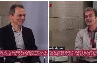 Esperpento en TVE: Pedro Duque y Fernando Simón bromean sobre un coronavirus que ya ha matado oficialmente a más de 20.000 personas