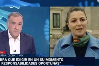 """Durísimo correctivo de Macarena Olona (VOX) a Xabier Fortes (TVE): """"Antonio Maestre y el resto de subvencionados alaban lo que hacéis"""""""