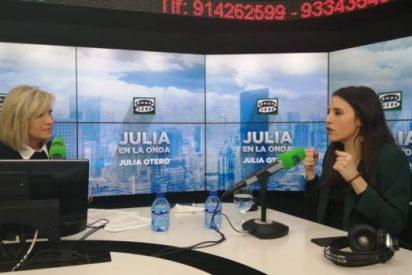 Julia Otero ayuda a Irene Montero: la periodista hace que se traga la trola de que la podemita nunca se saltó la cuarentena