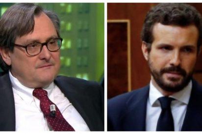 Marhuenda acude al rescate de Sánchez presionando a Casado a que entregue un cheque en blanco al PSOE