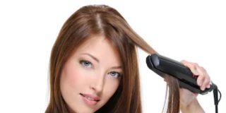 humedad en el pelo planchado