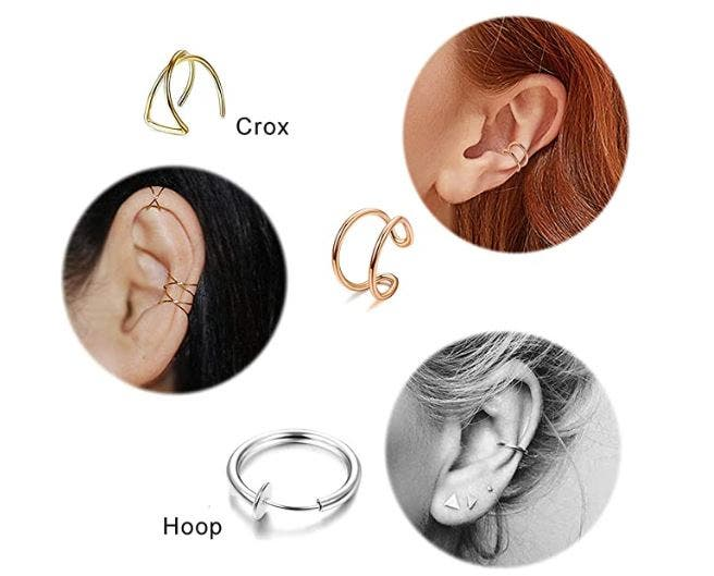 Piercing falsos oreja más vendidos en Amazon