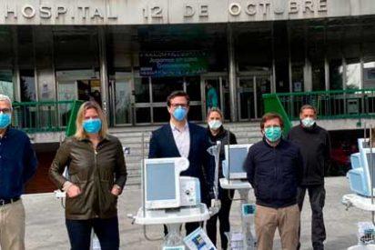 El Ayuntamiento entrega al Hospital 12 de Octubre cinco nuevos respiradores