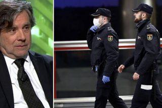 Antonio Seoane, juez podemita, protegido con guantes y mascarilla, echa un rapapolvo despreciable a los policías que reclaman medios contra el coronavirus
