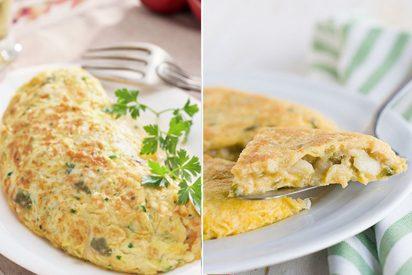 Tortilla de bacalao: Receta nutritiva y saludable