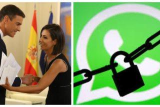 Así censuran WhatsApp y la inquisidora Ana Pastor los mensajes críticos contra el sátrapa Sánchez prohibiendo su reenvío