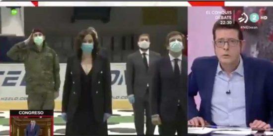 La televisión pública vasca se burla de que suene el himno de España en recuerdo de los fallecidos por el coronavirus