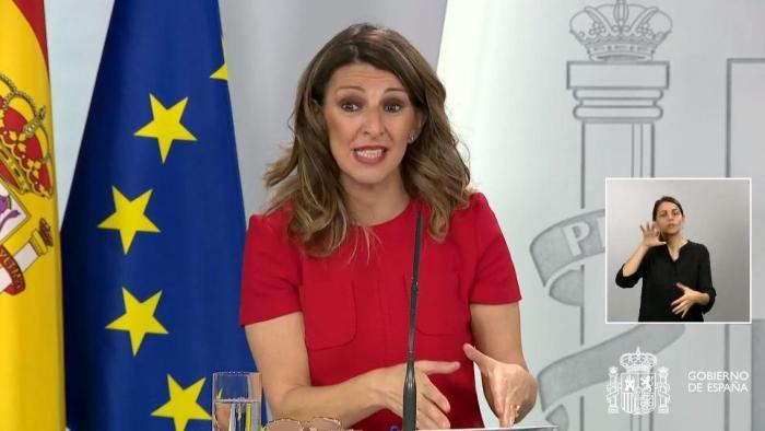 La podemita Yolanda Díaz vuelve a reírse de los afectados por los ERTE: no cobrarán hasta el 10 de junio