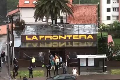 Santander: la policía clausura un bar con 100 clientes bebiendo en su interior