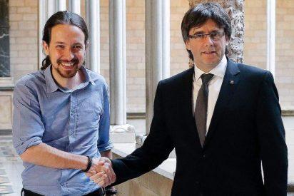 Podemos se compincha con los golpistas y vota a favor de enchufar al fugado Puigdemont en la Comisión para la Reconstrucción