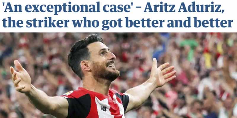 """El espectacular homenaje a Aduriz en 'The Guardian': """"El delantero que lo único que hizo fue mejorar"""""""