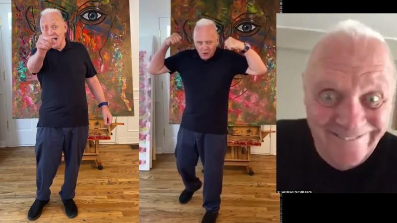 El veterano Anthony Hopkins se estrena en TikTok con un reto viral para chavalines