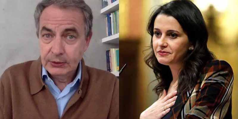 La que faltaba por caerle a Inés Arrimadas: Zapatero, el amigo de Maduro, elogia su apoyo al socialcomunismo