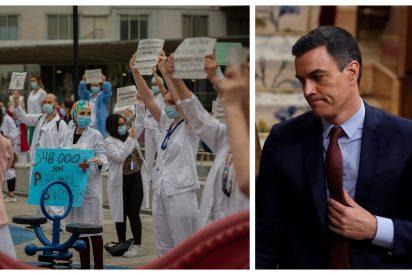 """Pedro Sánchez recuerda a las enfermeras y recibe una dosis de realidad: """"¡Las tenéis sin EPI, necio!"""""""