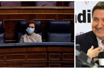"""Losantos se pitorrea de las pintas de Carmen Calvo: """"Parecía un soldado de Napoleón muerto en la retirada de Rusia"""""""