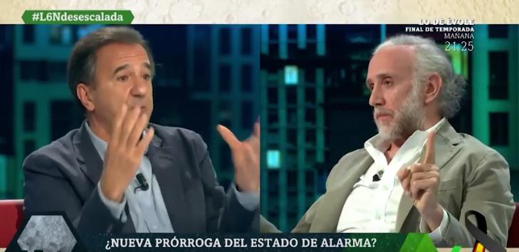 Inda pega un baño a Contreras, nuevo adalid de las 'libertades sanchistas'