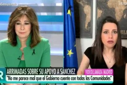La excusa de Inés Arrimadas para justificar ante Ana Rosa el 'volantazo' de Ciudadanos para apoyar al PSOE y Podemos