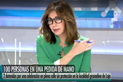 Ana Rosa Quintana explota ante una imprudente pedida de mano con 100 invitados: