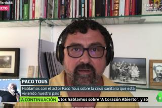 El Quilombo / El actor Paco Tous hace campaña a favor del Gobierno: