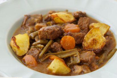 Ternera guisada con patatas y verduras