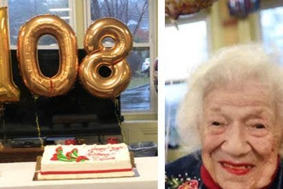 """Con 108 años sobrevivió al COVID-19 y superó la gripe de 1918, ahora la llaman """"chica pandemias"""""""