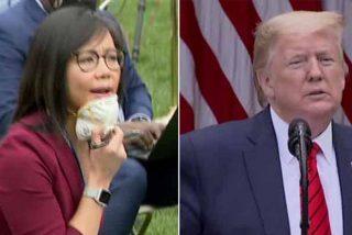 Trump 'manda a China' a una periodista que lo saca de sus casillas