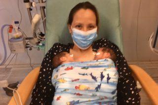 Una mujer con COVID-19: da a luz sedada y sin recordar que estaba embarazada