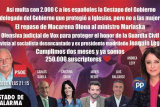 Crece el incendio en la Guardia Civil: entrevistas a Andrea Levy (PP) y Joaquín Leguina (PSOE)