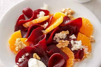 Ensalada de remolacha y mandarina