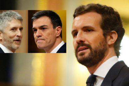 """Pablo Casado: """"El que sobra en esta farsa no es un coronel, es su ministro, señor a Sánchez"""""""