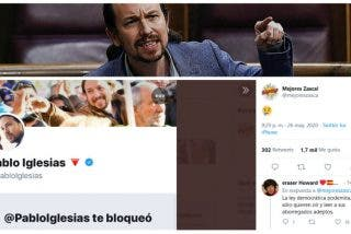 Pablo Iglesias bloquea a 'Los mejores zasca' y la reacción de Twitter contra el podemita es descacharrante