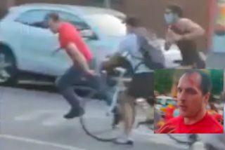 Jauría podemita a la caza de un taxista con bandera española