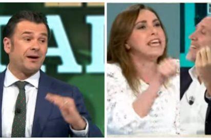 """Angélica Rubio, a insulto pelado contra Eduardo Inda y con Iñaki López a por uvas: """"Indecente, mentiroso, no te metas con nosotros"""""""