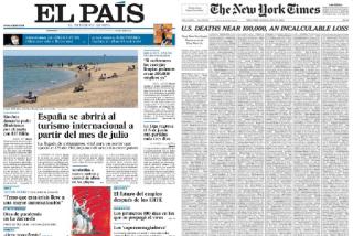 La portada de 'The New Yok Times' que 'El País' no se atreverá a hacer por miedo a Pedro Sánchez