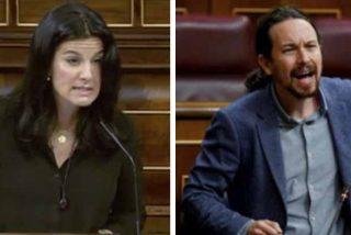 """María Ruiz (VOX) le planta cara a Pablo Iglesias en el Congreso: """"¿Qué vas a hacer, matar a Abascal?"""