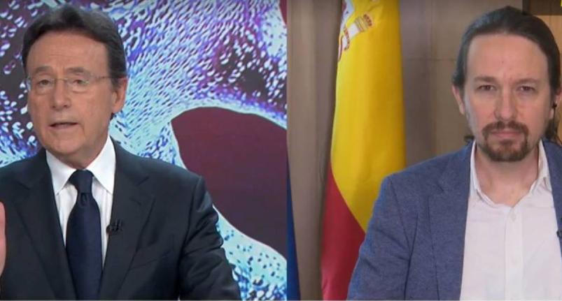 El instante en que Matías Prats deja patidifuso y titubeante a Pablo Iglesias