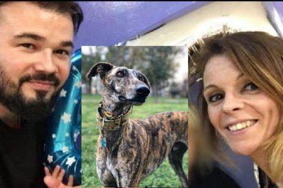 Mireia Varela, ex de Gabriel Rufián, adopta un perro y lo llama 'Rufi'
