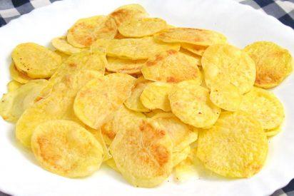 Patatas fritas 'chip' en microondas