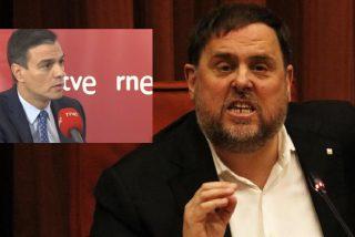 El golpista Junqueras amenaza a Sánchez con reventar la legislatura por su apaño con Ciudadanos