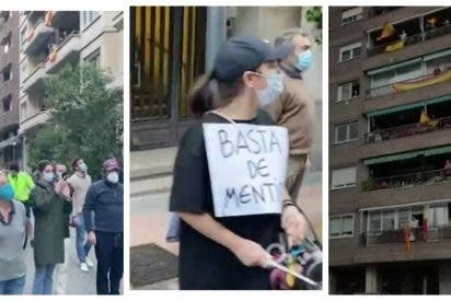 Madrid desafía al estado de excepción del Gobierno comunista con una estruendosa cacerolada al grito de ¡Sánchez dimisión!